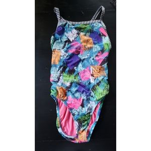 VINTAGE NEON 1 PIECE SWIMSUIT